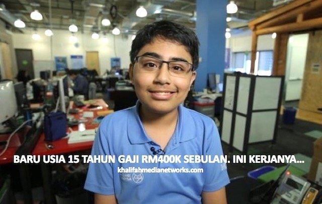 Baru Umur 15 Tahun Dah Dapat Gaji RM400k Sebulan. Kerjanya Buat Ramai TERUJA