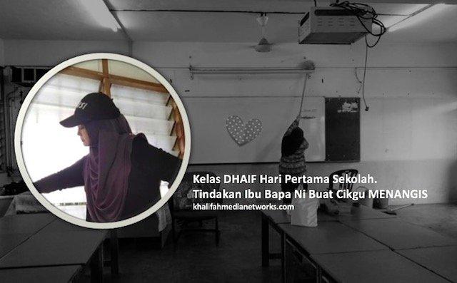Kelas DHAIF Hari Pertama Sekolah. Tindakan Ibu Bapa Ni Buat Cikgu MENANGIS