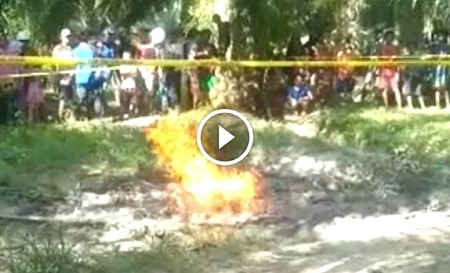Gempa Bumi Sulawesi. Penduduk Tergamam سبحان الله Semburan Api Muncul Dari Tanah Lumpur. Ada VIDEO.