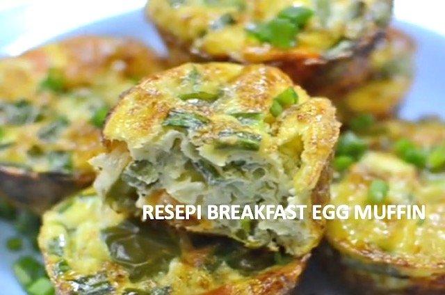 Resepi Masak Breakfast Egg Muffin Mudah Sedap