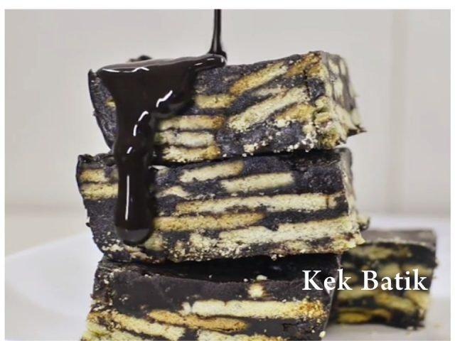 Resepi Cara Buat Kek Batik Yang Simple dan Sedap