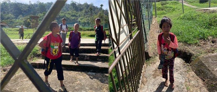TERHARU Lihat Adik² Ni Berjalan Kaki Selama Dua Jam Untuk Sampai Ke Sekolah.