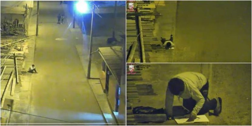 Apa yang Dilakukan Oleh Budak Lelaki Ini Di Bawah Lampu Jalan Buat Anggota Polis Tersentuh.
