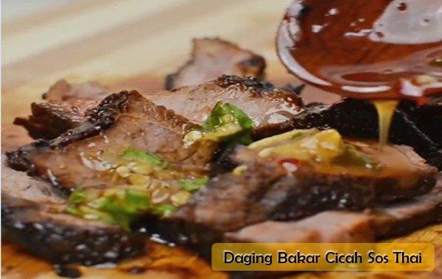 Resepi Daging Bakar Cicah Sos Thai