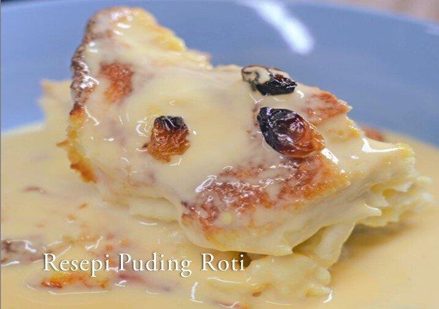Resepi Puding Roti Kastard Mudah Buat