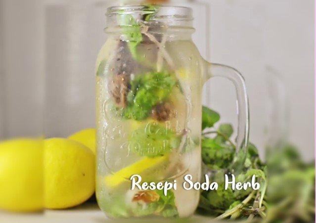 Resepi Air Soda Herb Mudah Buat