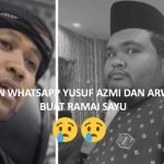 Yusuf Azmi Dedah Perbualan Whatsap Dengan Arwah Abam Bocey Ramadhan Lepas.