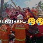 Tiga Maut Kemalangan Lori Treler Di Jempol. Polis Dedah Punca. AL FATIHAH.