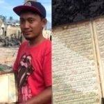 Subhanallah. Rumah Hangus Terbakar, Tapi Al Quran Masih Cantik