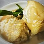 Resepi Pengat Durian Bersama Pulut Kukus Enak