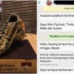 Jual Kasut Emas, Bekas Penyerang Harimau Malaya 'Disapa' Timb. Menteri Belia & Sukan
