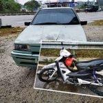 Penunggang Motosikal Maut Digilis Kereta