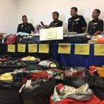 Polis Tangkap Pencuri Pakaian Dan Rampas Ribuan Pakaian Berjumlah RM200k.