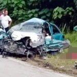 (Video) Kereta Curi Terbabas Langgar lori Ketika Dikejar Polis