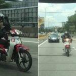 Tunggang Motosikal Guna Kaki, Lelaki Diburu Polis