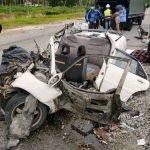 2 Orang Maut Dalam Kemalangan Kereta Dengan Lori Tangki.
