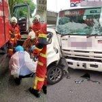 Empat Kenderaan Terlibat Kemalangan, 10 Dilaporkan Cedera