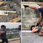 Video Lelaki Langgar 3 Kereta Dan Pukul Anggota Bomba.