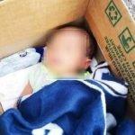 Jumpa Bayi Dalam Kotak Bersama Nota Minta Maaf.
