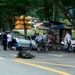 Langgar Sekatan Jalan, Anggota Trafik Parah Dirempuh