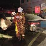 Isteri Maut, Suami Dan Anak Parah Kereta Terlibat Kemalangan