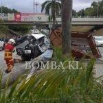 Pemandu Lori Maut Dihempap Pokok Dalam Kemalangan.