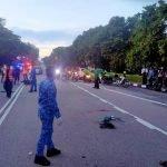 Dua Lelaki Maut Kemalangan Babitkan Tiga Kenderaan