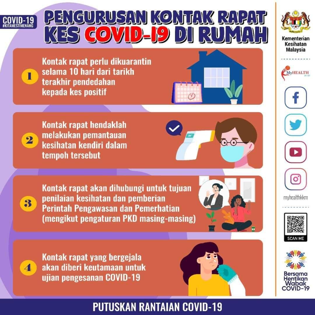 Covid 19 - KKM Kongsi 4 Pengurusan Kontak Rapat Di Rumah