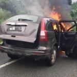 Suami Isteri Nyaris Maut SUV Terbakar
