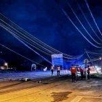 Lelaki Maut Motosikal Rempuh Tiang Telefon Tumbang