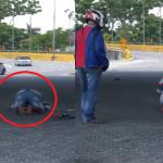Video Lelaki Solat Atas Jalan Raya Jadi Tular.