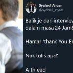 """""""Balik Dari Interview.."""" Abang Ni Kongsi Tips Selepas Temuduga Kerja"""