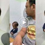 """(Video) """"Awak Merajuk Ke Awak Tengah Sembahyang?"""" Bapa Bebel Sehingga Anaknya Merajuk Buat Ramai Terhibur"""