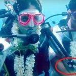 SOP Covid-19..Pasangan Pengantin Ini Nekad Kahwin Dalam Laut