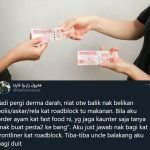 """Rakyat Malaysia Masih Ramai Yang Baik...""  Lelaki Ini Terharu Ada Uncle 'Topup' Duitnya Untuk Belikan Makanan Frontliner"
