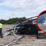 2 Cedera Helikopter Terhempas Di LTSAAS Subang.