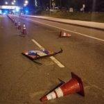 Padah Memandu Mabuk, Wanita Rempuh Peralatan Sekatan Jalan Raya