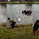 (Video) Sanggup Terjun Tasik Demi Selamatkan Ibu, Dua Beranak Mati Lemas