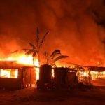 Panik Lihat Rumah Jiran Terbakar,Ibu Nekad Bawa 7 Anak Terjun Sungai
