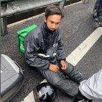 'Rider' Grabfood Trauma Ingin Mula Bekerja Selepas Dirempuh Lori