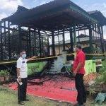 Rumah Pesara Guru Hangus Dijilat Api Terkena Panahan Petir