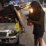 Polis Tahan Pemilik Dan Sita Kereta Kancil Tak Berbumbung