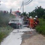 Lelaki Dijumpai Rentung Dalam Sebuah Kereta Akibat Terbakar