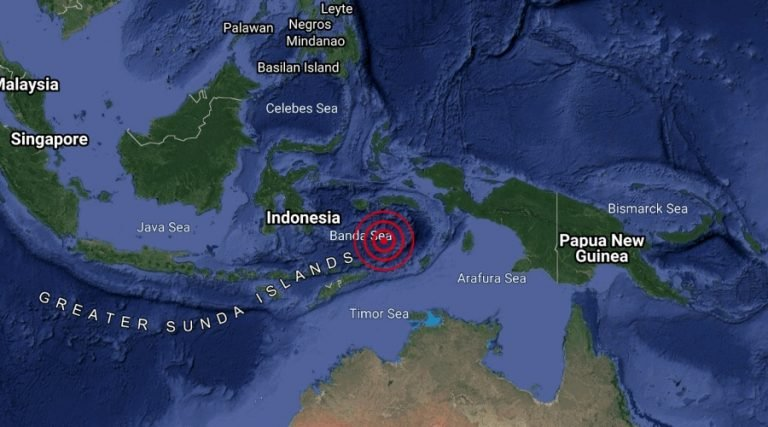 Laut Banda, Indonesia Dilanda Gempa Bumi
