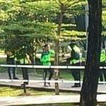 Penduduk Leka Beriadah Lari Keluar Bila Nampak Polis Pantau Taman Awam