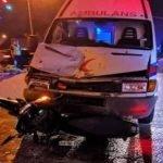 Penunggang Motosikal Cedera Bertembung Dengan Ambulans