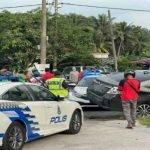 Tiga Individu Ditahan Selepas Kereta Masuk Longkang