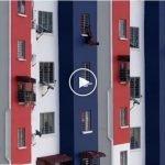 (Video) Tertekan Tiada Pekerjaan, Lelaki Cuba Terjun Dari Tingkat 11