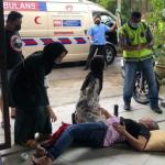 Seorang Lelaki Cedera Ditikam Ketika Cuba Leraikan Pergaduhan.
