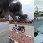 (Video) Sembilan Premis Zon Bebas Cukai Bukit Bunga Terbakar